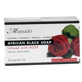 MAAMDO Savon noir africain ROSE 200g
