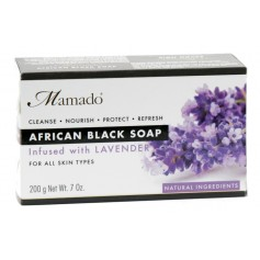 Savon noir africain LAVANDE 200g