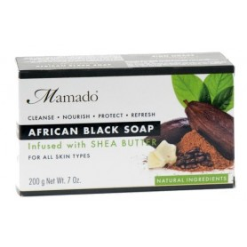 MAMADO Savon noir africain BEURRE DE KARITÉ 200g