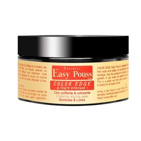 EASY POUSS Cire coiffante NOIRE pour bordures COLOR EDGE 100ml