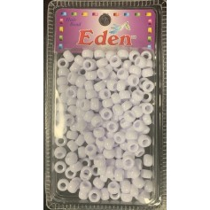 Perles rondes en plastique BLANC x200