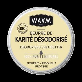 WAAM Beurre de karité désodorisé BIO 100ml