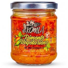 KOMLA Piments végétariens en morceaux KOMLA 210g