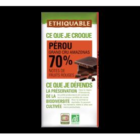 Chocolat noir du Pérou 70% BIO