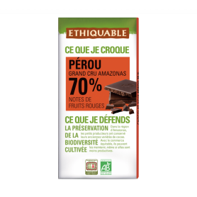 ETHIQUABLE Chocolat noir grand cru du Pérou 70% BIO