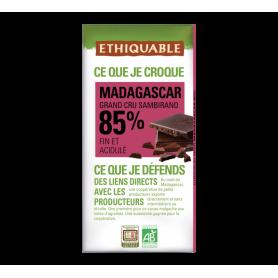 Chocolat noir grand cru de Madagascar 85% BIO 100g