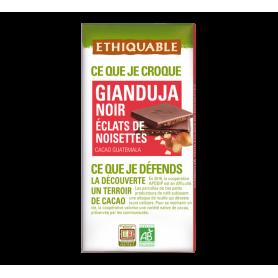 Chocolat Noir Gianduja aux éclats de noisettes Bio 100g