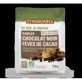 Sablés au Chocolat noir et Fèves de cacao BIO 120g