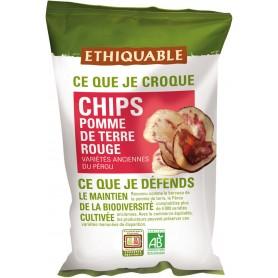 ETHIQUABLE Chips Pomme de terre rouge BIO 100g