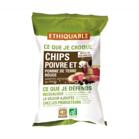 Chips Pomme de terre rouge Poivre & sel BIO 100g