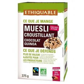 ETHIQUABLE Muesli croustillant Chocolat noir & Quinoa BIO 375g
