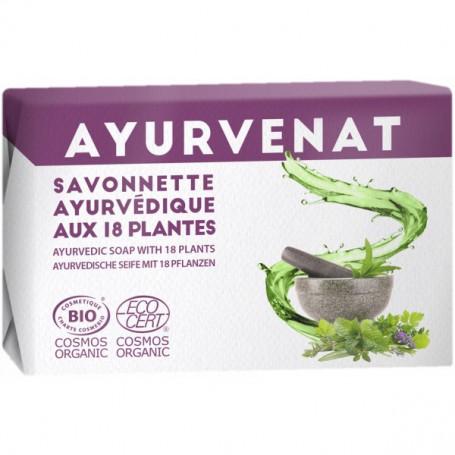 AYURVÉNAT Savon ayurvédique aux 18 plantes BIO 100g