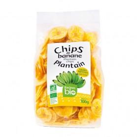Chips de banane plantain salées RACINES BIO 100g