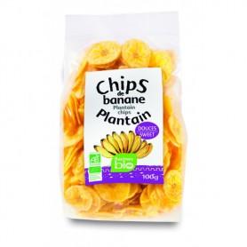 Chips de banane plantain sucrées RACINES BIO 100g
