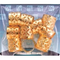 Bagues dorées pour nattes et locks GRAND FORMAT