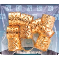 Gold rings for JUMBO braids and locks