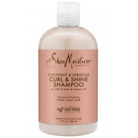"Shea Moisture Shampooing Coco & Hibiscus ""Curl & Shine"" 384ml"