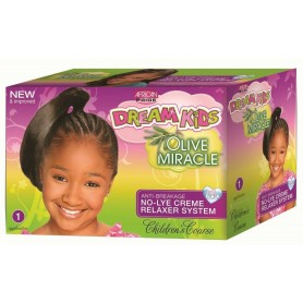 Dream Kids Kit relaxer for children with thick hair (Coarse)