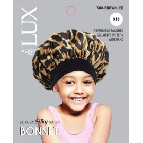 Bonnet en satin pour enfants QFITT LUX