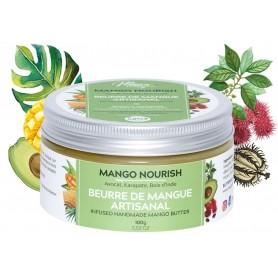 MANGO BUTTERFULL Beurre capillaire Mangue, Avocat et Carapate MANGO NOURISH 100g