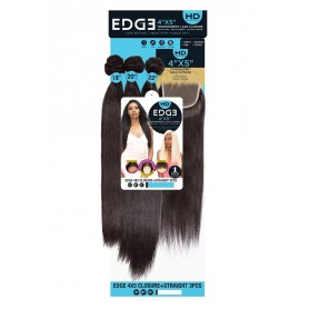 "FEMI tissage EDGE HD 4x5 CLOSURE + STRAIGHT 3PCS 10"", 12"", 14"""
