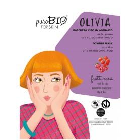 PUROBIO Masque visage à l'alginate pour peau grasse bio 13g