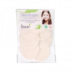 ANAE 7 mini-disques à démaquiller lavables BIO