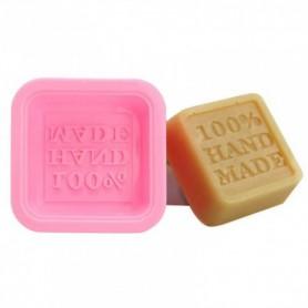 """Moule à savon carré en silicone """"HAND MADE"""""""