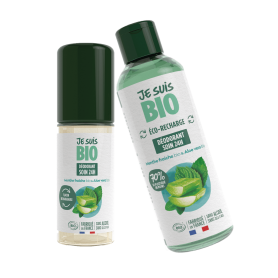 Déodorant roll-on MENTHE & ALOE 24h rechargeable BIO