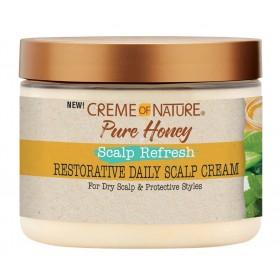 CREME OF NATURE Crème réparatrice cuir chevelu PURE HONEY 135g (Scalp refresh)