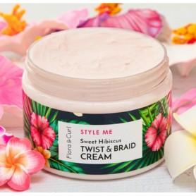 FLORA & CURL Crème définition boucles à l'hibiscus TWIST & BRAID 300ml (Style me)