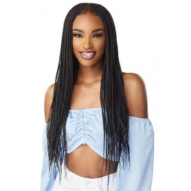 """SENSAS Perruque nattée Center part feed in 28"""" (HD Lace front)"""