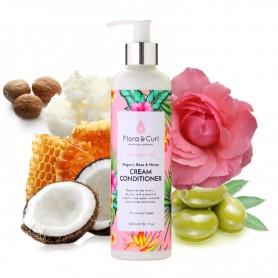 FLORA & CURL Après shampoing pour boucles à la Rose CREAM CONDITONER 300ml (Hydrate me)