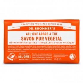 DR BRONNER'S Savon solide PUR VEGETAL BIO Arbre à Thé 140g