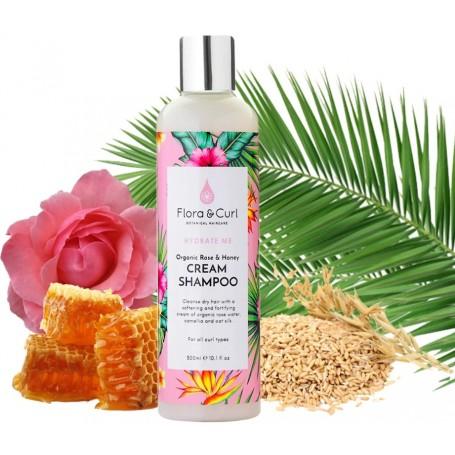 FLORA & CURL Shampoing crémeux à la Rose CREAM SHAMPOO 300ml (Hydrate me)