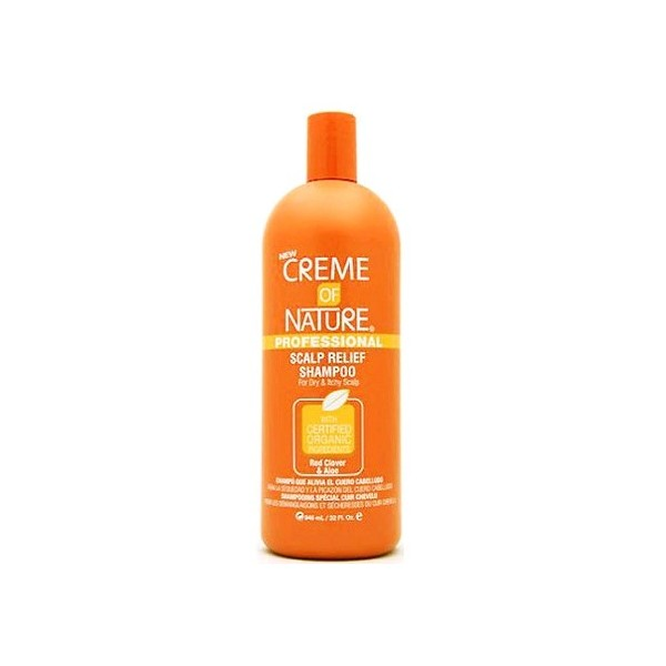 CREME OF NATURE Shampooing Anti pelliculaire (Red clover & Aloé) 946ml