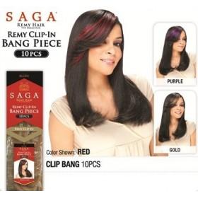 SAGA fringe CLIP BANG 10 PCS
