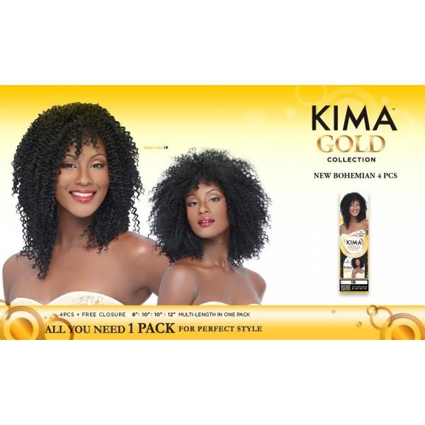 HARLEM tissage NEW BOHEMIAN 4PCS (Kima Gold)