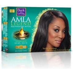Soda-free AMLA oil relaxer kit