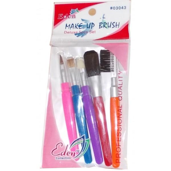 EDEN Kit pinceaux maquillage 5 pièces colorés