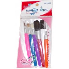 EDEN Make-up Brush Kit 5 pieces coloured