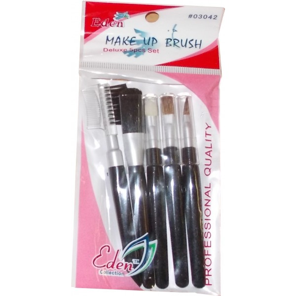 EDEN Kit pinceaux maquillage 5 pièces (coloris noir)