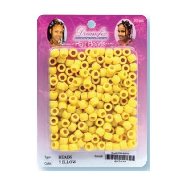 Perles plastiques jaune x 200