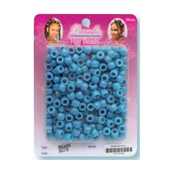 Perles plastiques bleu x 200