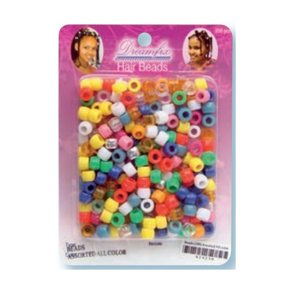 Perles plastiques multicouleur x 200