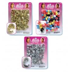 Plastic Clip Beads x100