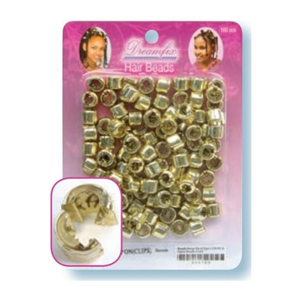 Perles plastique à clip or x 200