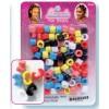 Perles plastique à clip multicouleur x 200