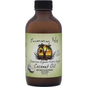 SUNNY ISLE Jamaican organic extra virgin (huile de coco) 120ml