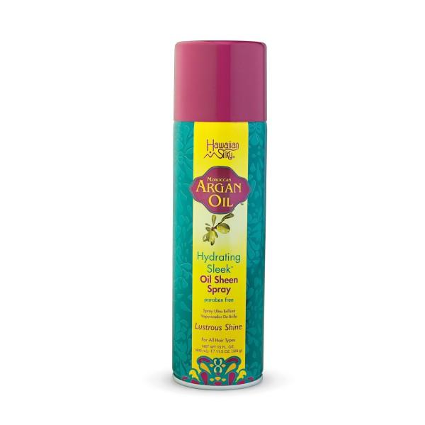 Hawaiian Silky Spray ultra brillance Argan 326g (Oil Sheen)